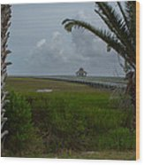 Storm Clouds Near Port Lavaca Wood Print
