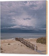Storm Clouds On The Outer Banks Wood Print