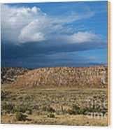 Storm Clouds Over Central Wyoming Wood Print
