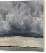 Storm Clouds Over Charleston South Carolina Wood Print