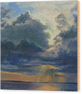 Storm Clouds Over P-town Wood Print