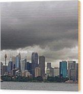 Storm Clouds Over Sydney Wood Print