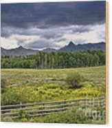 Storm Clouds Over The Rockies Wood Print