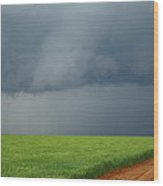 Storm Clouds Over Wheat Field 2am-6982 Wood Print