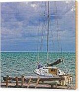 Storm Coming Caye Caulker Belize Wood Print