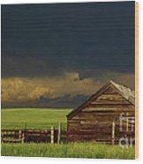 Storm Crossing Prairie 2 Wood Print