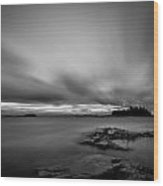 Storm In Black And White Wood Print