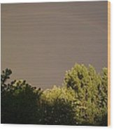Storm Effects Rainbow With Highlights Wood Print