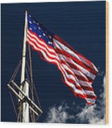 Storm Flag At Fort Mchenry Wood Print