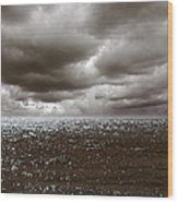 Storm Front Wood Print by Mark Rogan