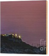 Storm In The Lighthouse Wood Print