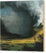 Storm In The Mountains Wood Print
