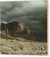 Storm In The Superstitions Wood Print