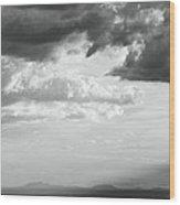 Storm Light On The Desert Wood Print