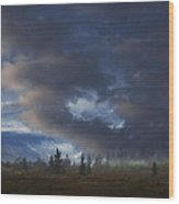 Storm Light Wood Print