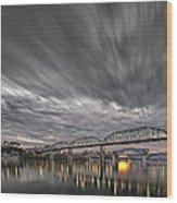 Storm Moving In Over Chattanooga Wood Print
