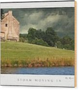 Storm Moving In Wood Print