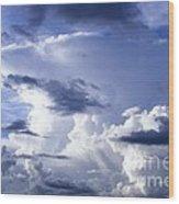 Storm Of Namibia Wood Print