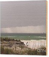 Storm Offshore At Destin Florida Wood Print