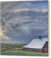 Storm On Jenkins Rd Wood Print