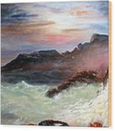 Storm On Mount Desert Island Wood Print