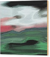 Storm On The American Landscape Wood Print