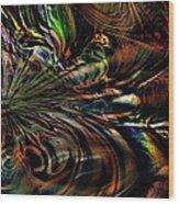 Storm On The Great Sea At Aquaran Wood Print