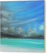 Storm On The Move Wood Print