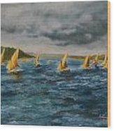 Storm On The Nile Wood Print