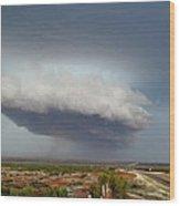 Storm Over Badlands 2am-115139 Wood Print