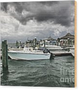 Storm Over Banks Channel Wood Print by Phil Mancuso