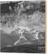 Storm Over Como Wood Print