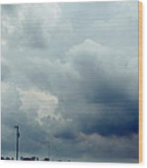 Storm Over Country Road Wood Print