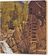Storm Over Crystal Mill Wood Print