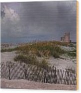 Storm Over Gulf Shores  Wood Print