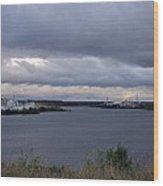 Storm Over Lake Manistee Wood Print