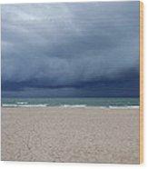 Storm Over Lake Michigan Wood Print
