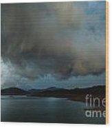Storm Over Lake Shasta Wood Print