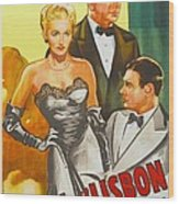Storm Over Lisbon, Us Poster, From Left Wood Print
