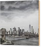 Storm Over Manhattan Wood Print