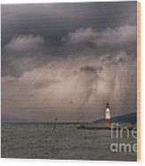 Storm Over Myers Point Wood Print