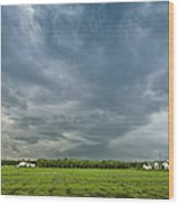 Storm Over Nursery Wood Print