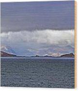 Storm Over Oban Bay Wood Print