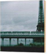 Storm Over Paris Wood Print