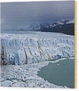 Storm Over Perito Moreno Wood Print