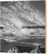 Storm Over Sedona Wood Print by Dave Bowman