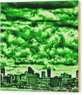 Storm Over The Emerald City Wood Print by David Patterson