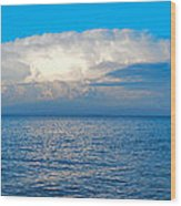 Storm Over Whitefish Bay Wood Print