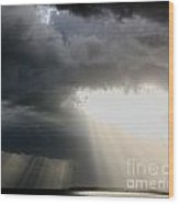 Storm Rays Wood Print