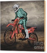 Storm Rider V1 Wood Print